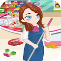 Cleaning Time Supermarket Game icon