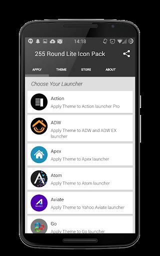 255 Round Lite Icon Pack