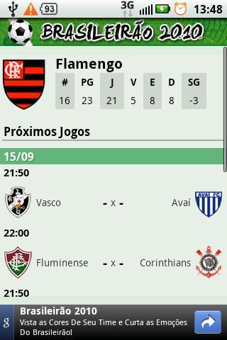 Brasileirão 2010 - Série A- screenshot