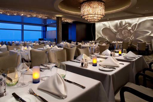 Celebrity_Eclipse_Blu - A glimpse of Celebrity Eclipse's elegant Blu restaurant.