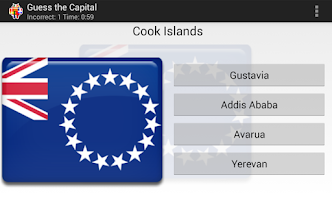 Screenshot of World Capitals Quiz