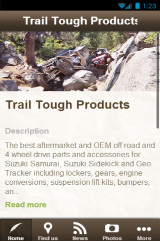 Trail Tough Products- screenshot