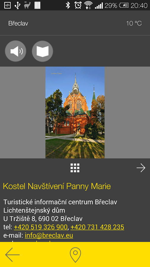 Břeclav - audio tour- screenshot