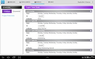Screenshot of Lutron Home Control+
