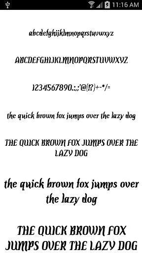 Fonts for FlipFont 50 7