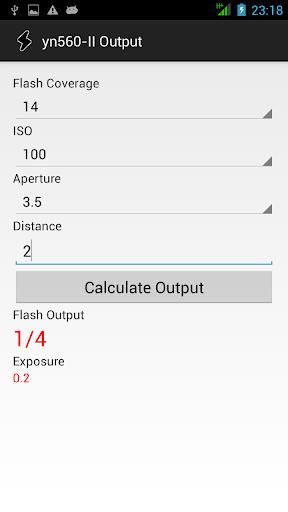 Manual Flash calculator GN 58