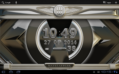 Digi Clock Widget Iron Sun APK screenshot thumbnail 6