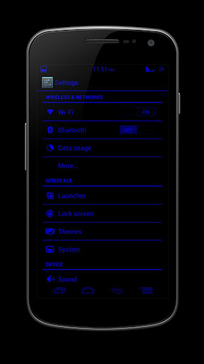 【免費個人化App】BlueJelly-Lite Theme ICS/JB-APP點子
