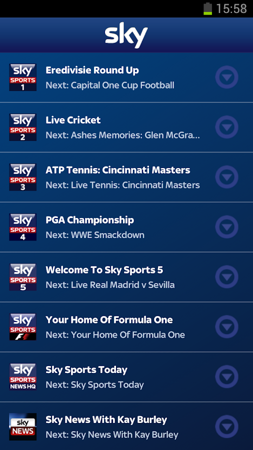 Sky Sports Mobile TV- screenshot