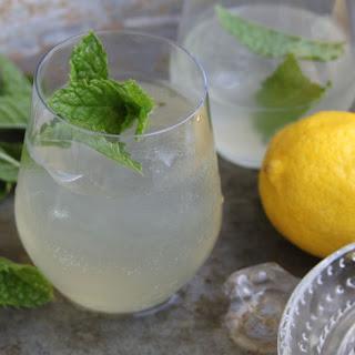 Homemade Lemonade with Mint.