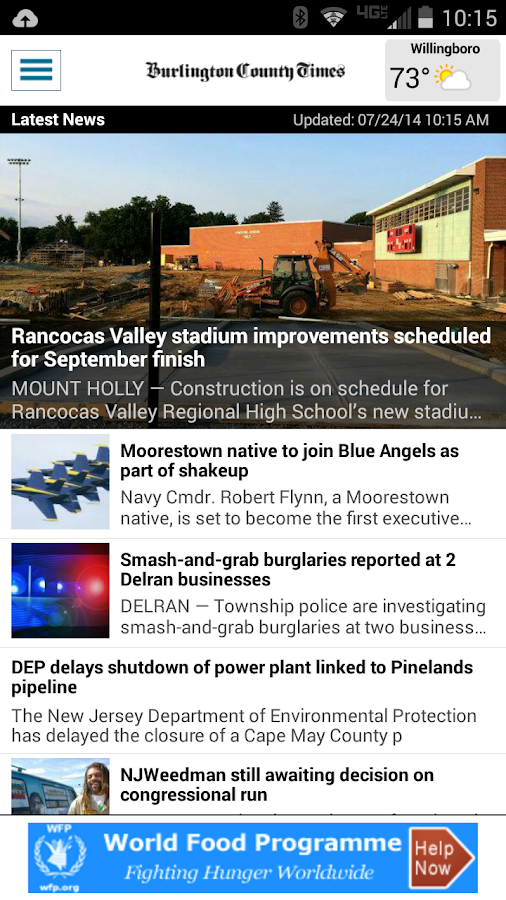 Burlington County Times- screenshot