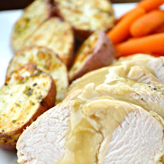 Tuscan Turkey Dinner for Two with Roasted Red Potatoes.