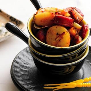 Rosemary Potatoes With Leek And Chorizo.