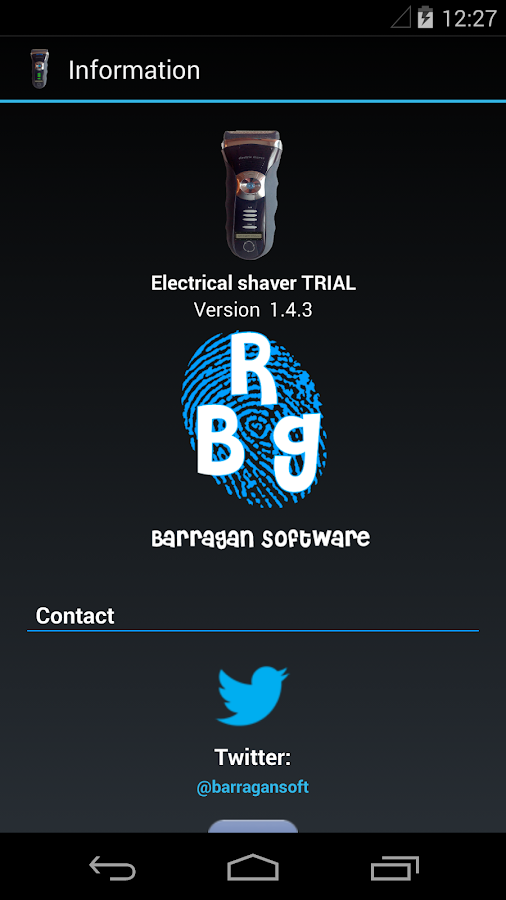 Electrical shaver- screenshot