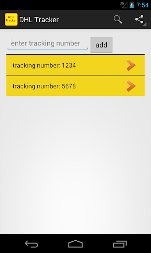 Tracker for DHL shipments
