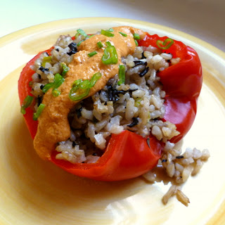 Stuffed Peppers with Lobster (mushroom) Sauce