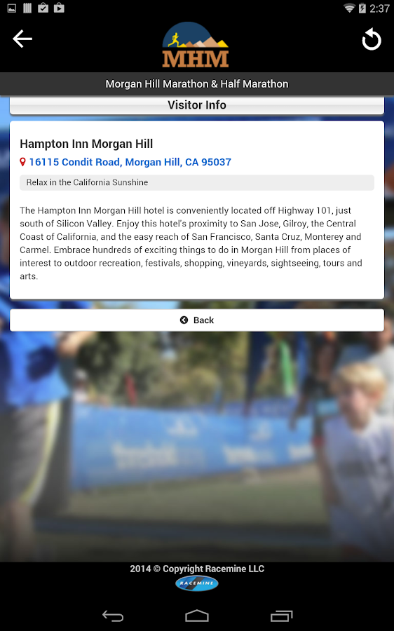 Morgan Hill Marathon - screenshot