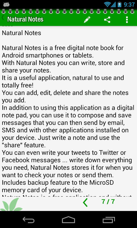 Natural Notes - screenshot