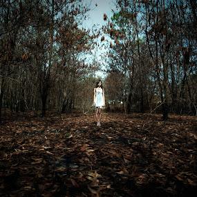 forest by Tim Kek - People Portraits of Women ( model, girl, woman, art, forest )