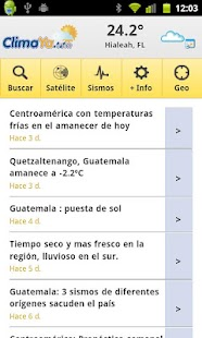 ClimaYa Latin America Weather - screenshot thumbnail