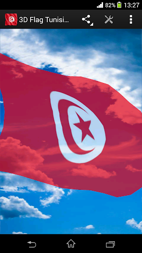 3D Flag Tunisia LWP