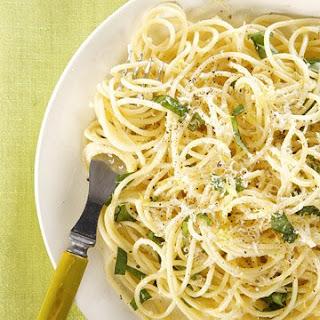 Spaghetti with Garlic and Chile.