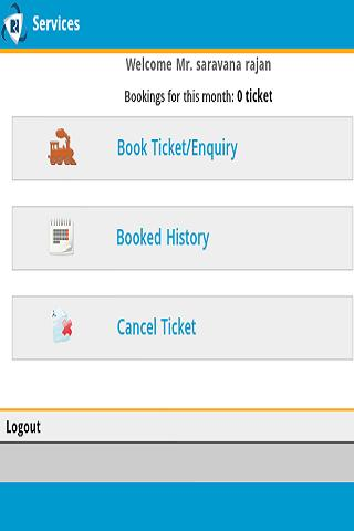 IRCTC Ticket Bookings - screenshot