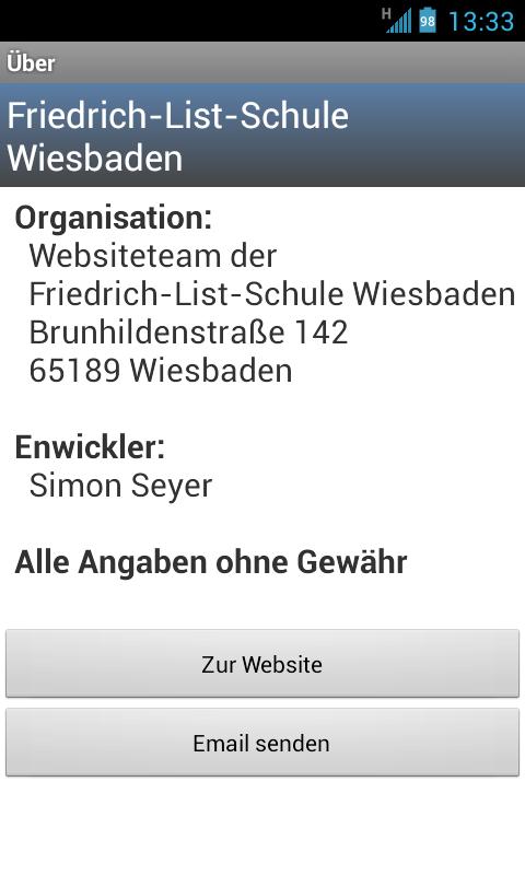 Vertretungsplan FLS - screenshot