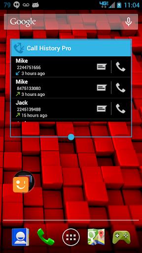 Call log history widget Pro