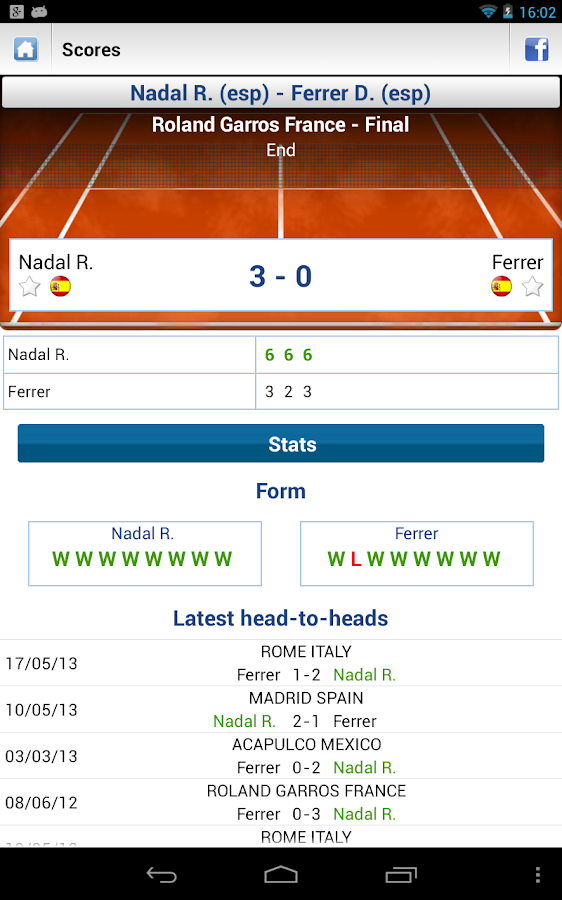 Livescore Football Tennis - screenshot
