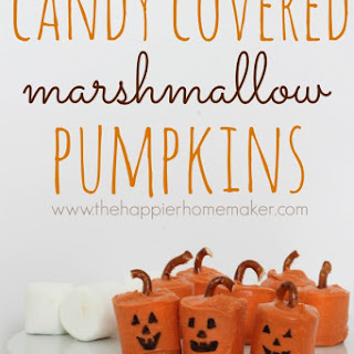 Candy Covered Marshmallow Pumpkins