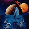 Dolphins n Planets In Dreams logo