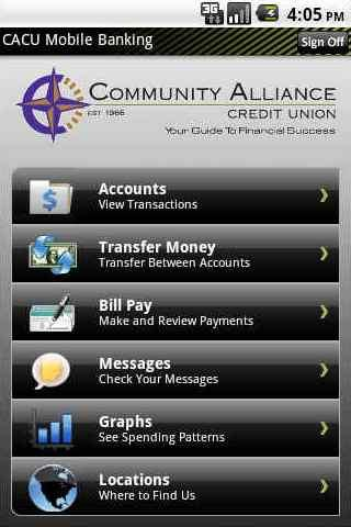 CACU Mobile Banking - screenshot