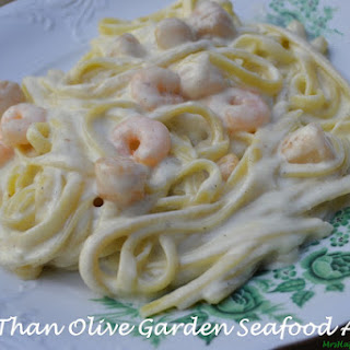 'Better Than Olive Garden' Seafood Alfredo