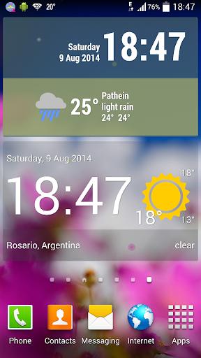 玩免費天氣APP|下載Weather ACE Clock Widget Pack app不用錢|硬是要APP