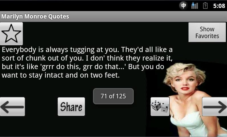 Marilyn Monroe Quotes - screenshot