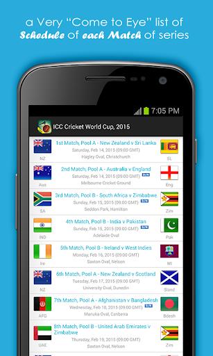 Live Cricket Scores & Schedule 1.6 screenshots 2