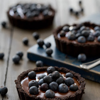 No-Bake Blueberry Truffle Tartlets.