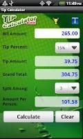 Screenshot of Tip Calculator Slick
