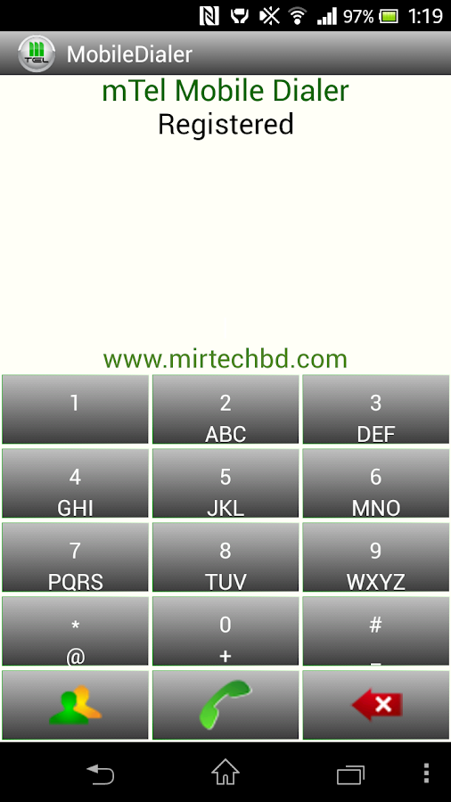 mTel Mobile Dialer- screenshot