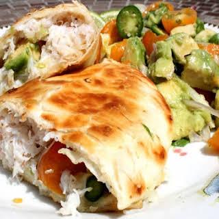 Crab and Avocado Quesadilla.