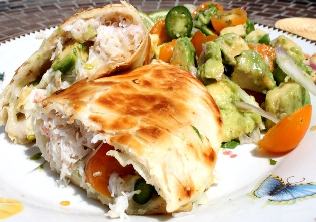 Crab and Avocado Quesadilla Recipe