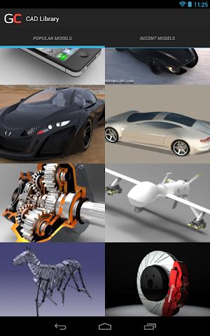 Screenshots for GrabCAD