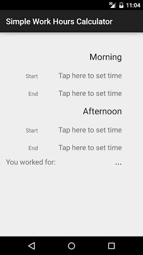 Simple Work Hours Calculator
