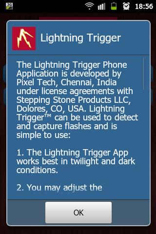 Lightning Trigger™ App- screenshot