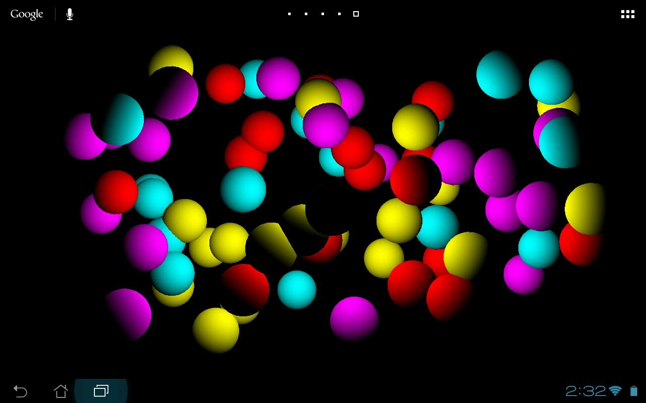bouncing balls full screen