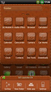 Leather GO Launcher EX Theme - screenshot thumbnail