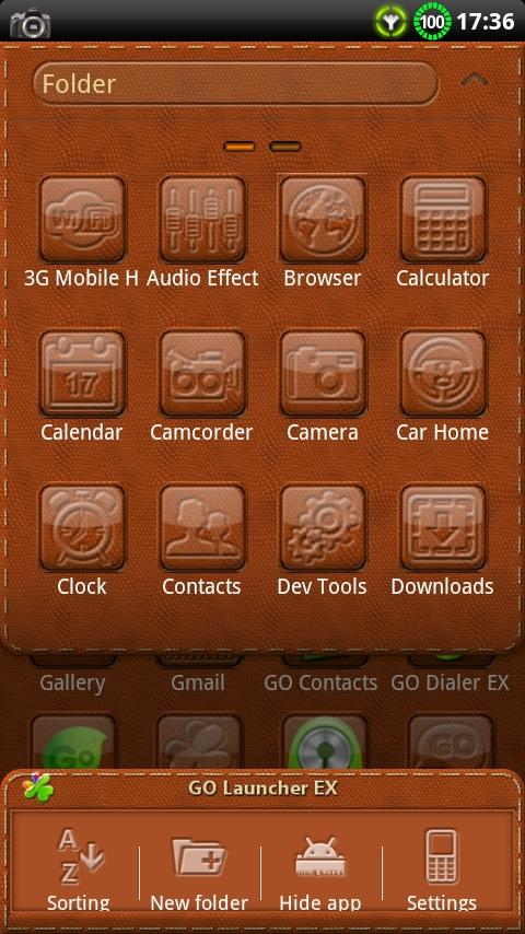 Leather GO Launcher EX Theme - screenshot