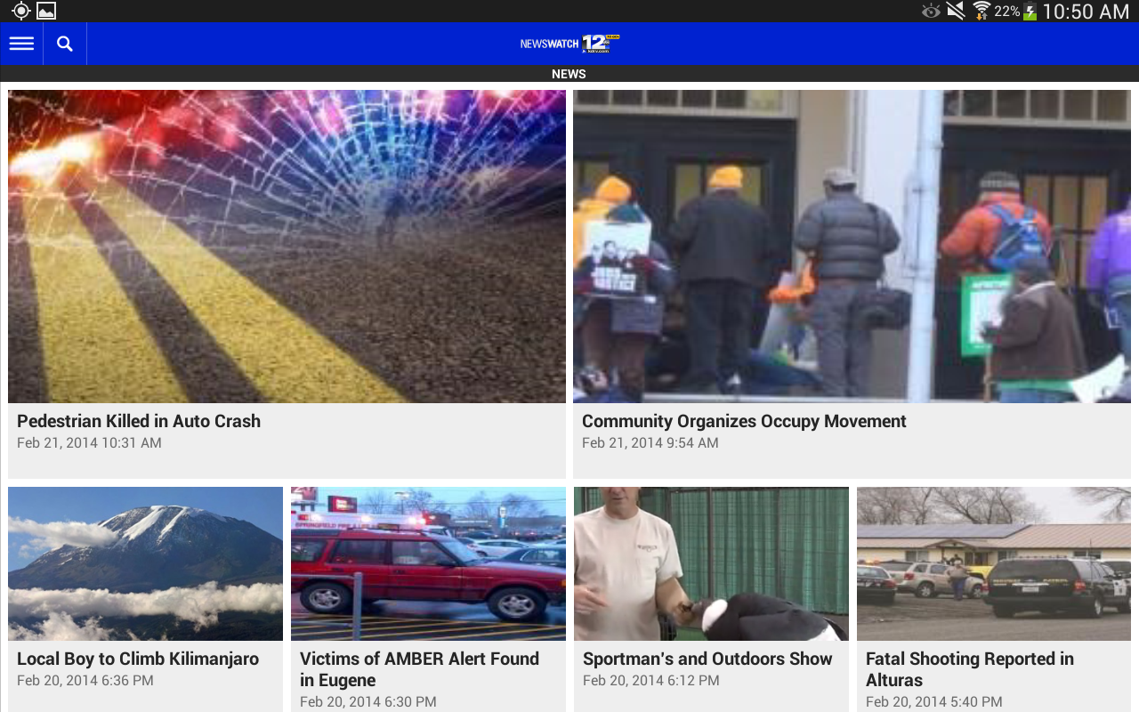 KDRV NewsWatch 12 - screenshot