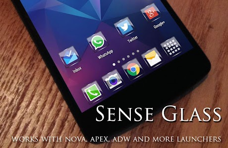 Glass  NOVA/APEX/ADW Theme HD v1.7